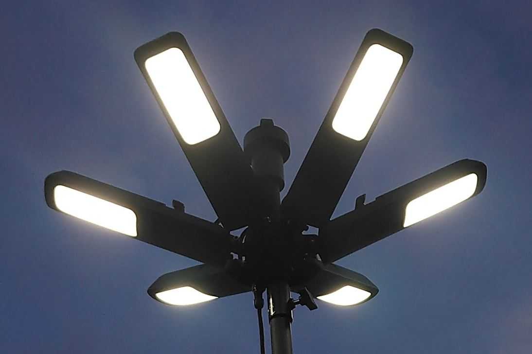 lampas uz stativa